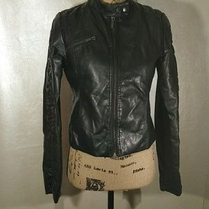 Body Central Faux Moto leather slightly  jacket